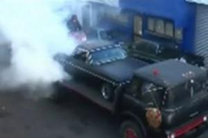 VIDEO: Triplu burnout!