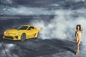 VIDEO: Lexus LFA da tarcoale fotomodelelor