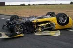 Un Corvette Grand Sport decapotabil distrus intr-un accident oribil