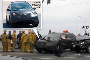 Noua Honda CR-V implicata intr-un accident