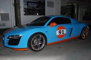 Audi R8 in culorile Gulf Oil