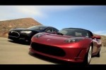 VIDEO: Tesla Model S si Roadster pe sosea