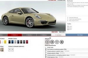 Configurator online Porsche 911 Carrera