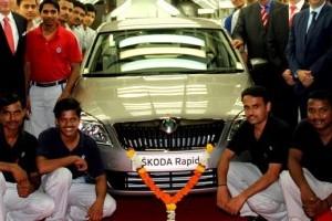 Skoda lanseaza Rapid in India