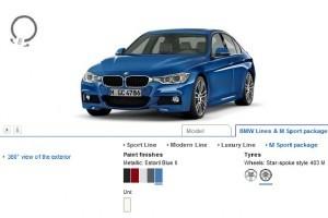 Configurator online BMW seria 3