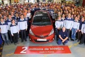 Toyota sarbatoreste 2 milioane Yaris