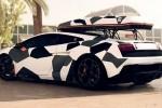 Un Lamborghini Gallardo urat cu spume!