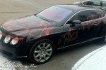 Un Bentley Continental GT vandalizat