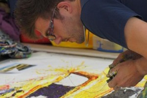 "Noul ""Picarso"", Ian Cook, picteaza cu masinute de jucarie"