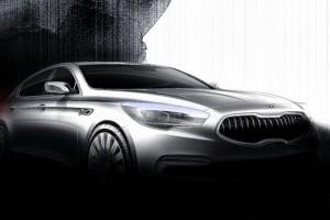 Kia publica schitele unui nou sedan