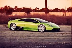 LB Performance Lamborghini Murcielago cu roti de la HRE Wheels