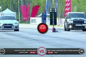 VIDEO: Jeep Grand Cherokee vs Audi R8, Nissan GT-R si BMW X6