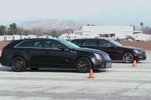 VIDEO: Cadillac CTS-V Wagon vs Mercedes-Benz E63 AMG Wagon