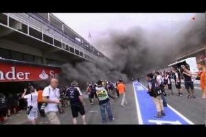 Standul celor de la Williams a luat foc dupa MP de Formula 1 al Spaniei