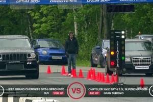 VIDEO: Liniute cu masini de peste 1000 CP in cadrul unui eveniment din Moscova