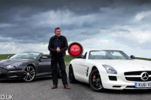 VIDEO: Aston Martin DBS Volante vs Mercedes SLS AMG Roadster