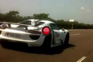 VIDEO: Trei prototipuri Porsche 918 Spyder au fost zarite in Spania