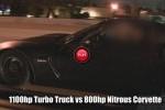 Un Chevrolet Pickup de 1100 cai putere isi face de cap pe o autostrada