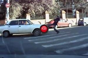 Intre timp in Rusia - A luat la bataie o Lada