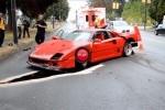 Accident cu o masina rara: Ferrari F40
