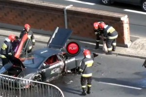 VIDEO: Accident de lux in Polonia cu un Lamborghini Murcielago