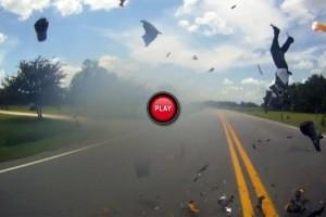 VIDEO: Un accident moto grav