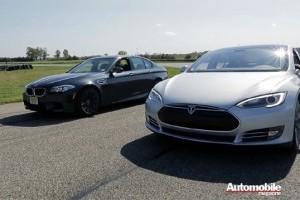 VIDEO: Duel intre Tesla Model S Performance si BMW M5