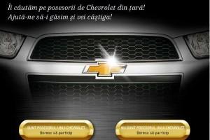 """""""Caută şi câştigă cu Chevrolet!"""""""