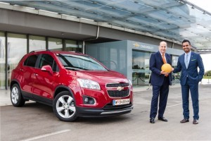 Ambasadorul Statelor Unite in Croatia intampinat de echipa Chevrolet la lansarea modelului Trax din Zadar