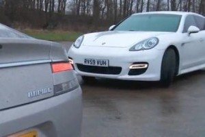 VIDEO: Aston Martin Rapide vs. Porsche Panamera