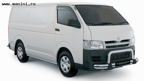 Toyota Hiace Panel Van SWB 4x4, Numar usi